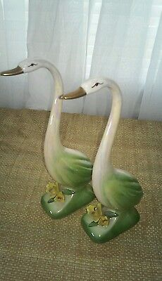 Vintage Ceramic Geese Figurines