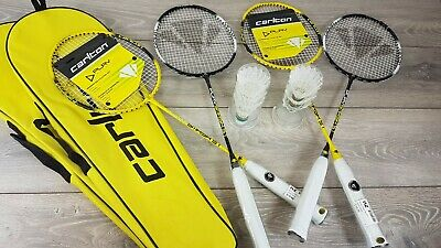 Carlton Badminton Set 4 Players 4 Rackets & 6 Shuttlecocks in Case