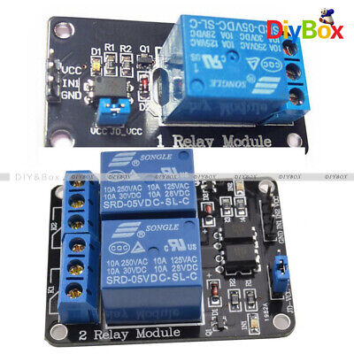 1 /2 Channel Isolated 5V Relay Module With Optocoupler F Arduino PIC ARM DSP AVR