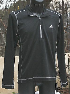 NEUF @@ T SHIRT MANCHES LONGUES SWEAT RUNNING HOMME + ADIDAS + S ou M