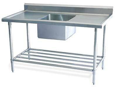 New Stainless Steel Single Commercial Catering Kitchen Sink unit 1200 w x 600mm
