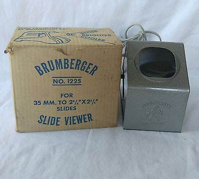 Brumberger Slide Viewer No. 1225 with Box Works