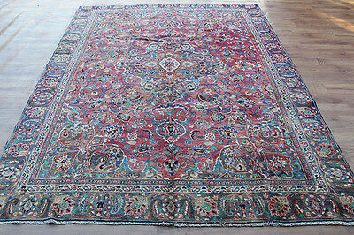 OLD WOOL HAND MADE PERSIAN ORIENTAL FLORAL RUNNER AREA RUG CARPET 310x227CM