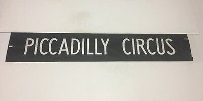 "London Bus Blind 53 42""- Piccadilly Circus"