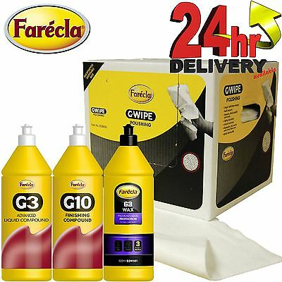 Farecla G3/G10 Cutting & Waxing 500ml Scratch Remover & Polishing Set