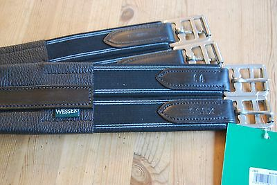 """Shires Wessex Atherstone Leather Girth 3565 - BLACK 44"""""""