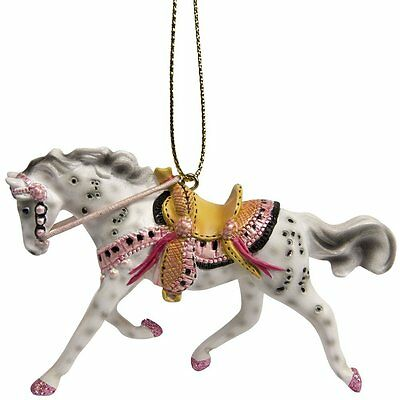 """Enesco Trail of Painted Ponies Tickled Ornament, 2.25"""", Pink"""