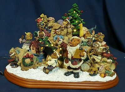 Boyds Bears Danbury mint cristmas sleigh figure teddy retired sculpture santa