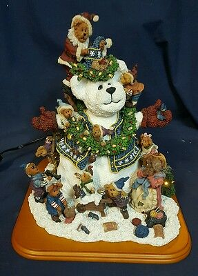 Boyds Bears Danbury mint snow bear figure teddy retired  sculpture