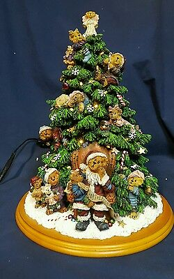 Boyds Bears 2001 Danbury mint lighted christmas tree figure teddy sculpture
