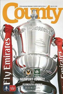 NEWPORT COUNTY v PLYMOUTH ARGYLE  16/17  FA CUP 1st Rnd
