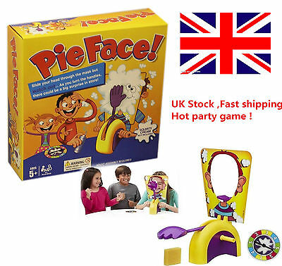 UK Pie Face Game Family Fun Filled Game Of Suspense Toy Party Birthday Xmas Gift