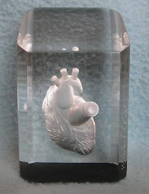 Acrylic Crystal 3D Engraved HUMAN HEART Paperweight Unique Medical Doctor