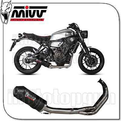 Mivv Full System Exhaust Oval Carbon Carbon Cup Yamaha Xsr 700 2016 16