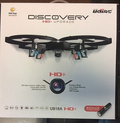 UDI/RC U818 Discovery HD+ Upgrade 2.4GHz 4 CH 6 Axis Gyro RC Quadcopter