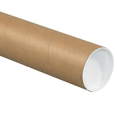 """Aviditi P3036K Fibreboard 3-Ply Spiral Wound Mailing Tube with Cap 36"""" Length..."""