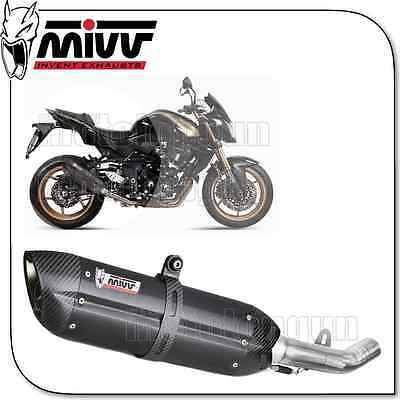 Mivv Approved Exhaust Suono Steel Black Carbon Cup Kawasaki Z-750 R 2011 11