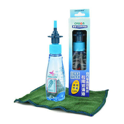 Efficient Bicycle Cycle Chain Oil Lube Anti-wear Lubricant Fiber Towel Set 2oz