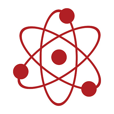 Atom Nuclear Vinyl Sticker Decal Fission Electron Proton big bang theory MadeUSA