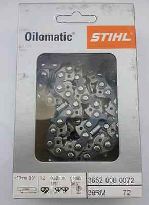 Chaine STIHL 3/8 1.6 72 maillons 36RM72 chaine 50cm 36520030072 3652 003 0072