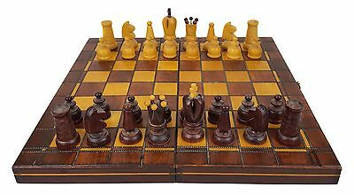 Traditional Wooden Chess Set - Folding Board - Complete - 30 x 30 cm