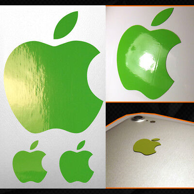 Adesivo Sticker Mela Apple iPhone iPad iMac Argento Opaco / Matt Silver