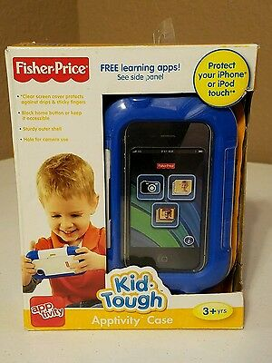 Kid Tough iPhone iPod Touch Case Protector Apptivity Blue Fisher Price Big Sale!