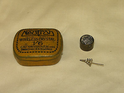 Cats Whisker Radio Detector with Tin.