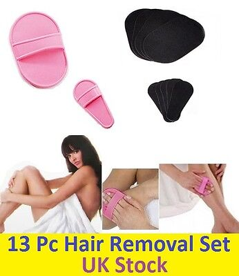 New 13PCs Kit Exfoliating Hair Removal Pads for Nice Smooth Legs Arms Face Skin