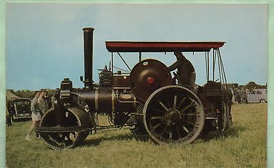 "COLOUR PHOTO POSTCARD ""FOWLER STEAM ROLLER"" c 1950"