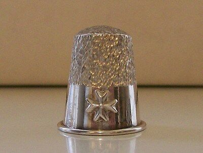 Nice 925 Sterling Silver Thimble (with Cross Decoration)