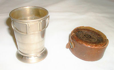 Franklin Insur. Co. of Philadelphia 1829 Antique Metal Collapsible Drinking Cup
