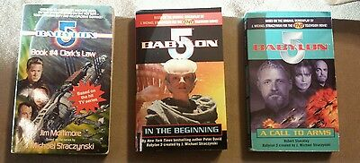 Babylon 5 paberbacks SIGNED by Peter David(1 book) lot of 3 books