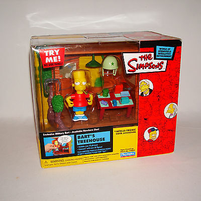 Simpsons World of Springfield - Military Bart / Treehouse Playset - MSIB - WOS