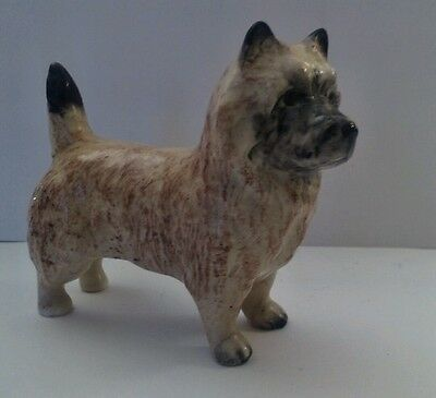 """Adorable Beswick Cairn Terrier, Norwich, Dog Statue Figurine England 2.75"""" x 3.5"""
