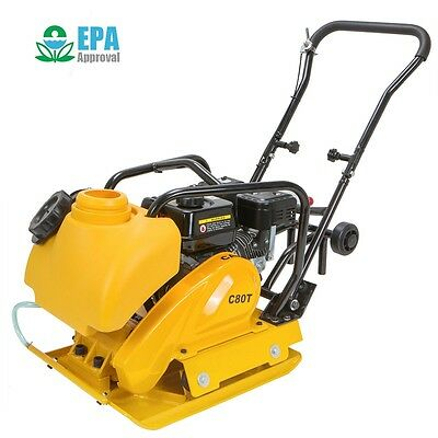 6.5Hp Gas Vibrtion Plate Compactor Walk Behind W / Water Tank