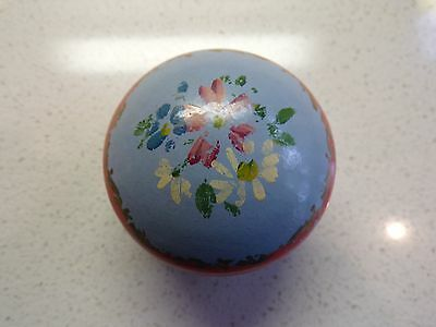 Vtg Taylers England Hand Painted Straight Pin Box Tin Holder  Sewing 119