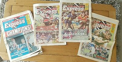 × 4 LEAGUE EXPRESS  1994 ISSUE RUGBY LEAGUE workington
