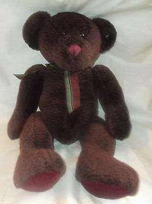 "Teddy Bear Russ Berrie Plush Mulberry Stuffed Animal 18"" Vintage Display only"
