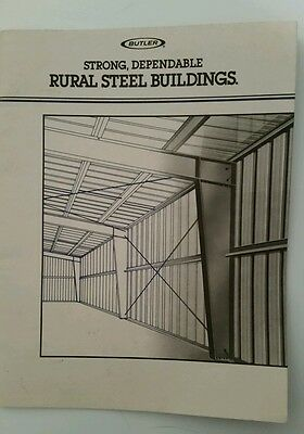 1988 Vintage Butler Mfg Co Advertising Brochure - Rural Steel Buildings
