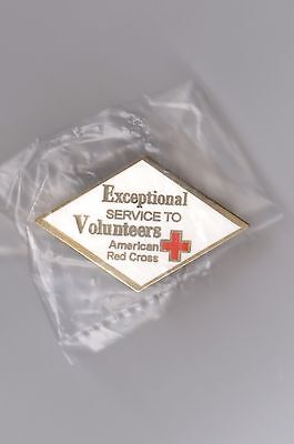 """Exceptional service to Volunteers"": American Red Cross pin."