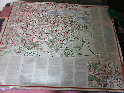London Transport South East London Bus Map Poster 1975