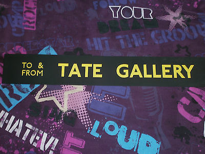 LONDON TRANSPORT PRE-ROUTEMASTER SLIP BOARD POSTER-To/From TATE GALLERY