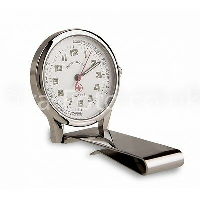 Mount Royal Unisex Nurses Chrome Fob Clip Watch