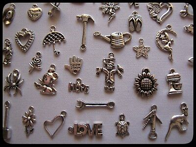 BULK PACK OF 100 MIXED TIBETAN SILVER CHARMS(LUCKY DIP PACKS)Buy 2 GET 3RD FREE