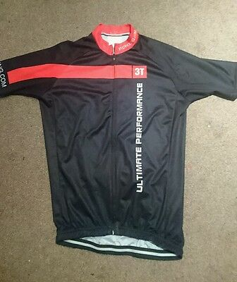 Castelli 3t mens team cycling jersey (LARGE), short sleeve, red and black
