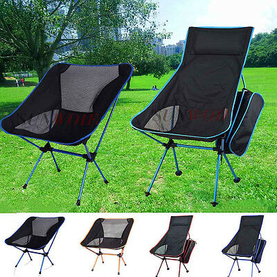 Potable Fishing Table Folding Chair + Backpack Outdoor Camping Hiking Seat US
