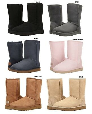 0859ed0ee9 NEW UGG BRAND Women's Classic Short II Boots Shoes Black Chestnut Grey Sand  Navy