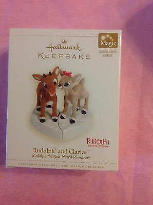 Hallmark Ornament 2006 Rudolph And Clarice Red Nosed Reindeer Set Of 2 Light Nib