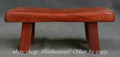"""9.2""""Chinese Huanghuali Wood Carving Furniture Small Stool Footstool Chair Bench"""